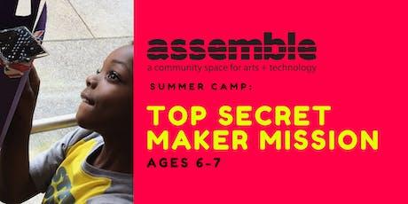 Summer Camp: Top Secret Maker Mission (Ages 6-7) tickets