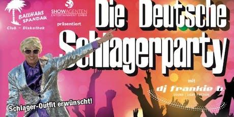 Die Deutsche Schlagerparty  Tickets