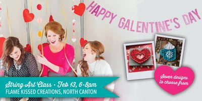 String Art: Galentine's Day, Flame Kissed Creations
