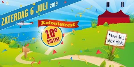 Koloniefeest 2019 tickets