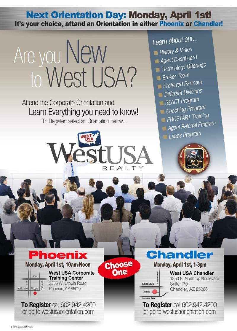 West USA Realty Chandler Orientation - April