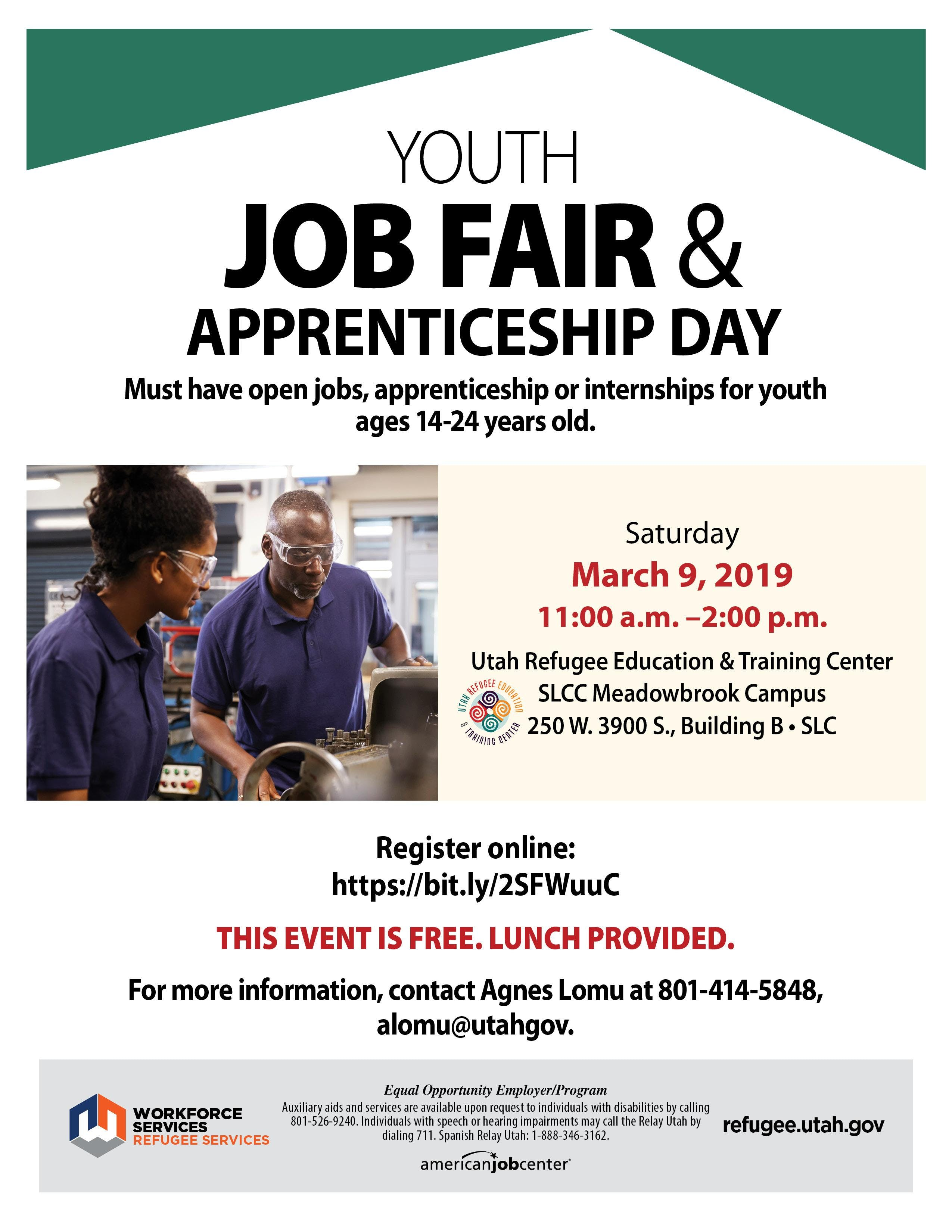 Youth Job Fair Apprenticeship Day 9 Mar 2019