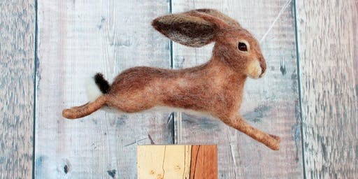 Running Magical Hares Needle Felting Workshop at the Fisherton Mill on the 12th & 13th July 2019