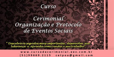 Curso de Cerimonial e Organização de Eventos - Diurno