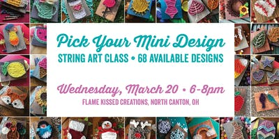 String Art: Pick Your Mini Project, Flame Kissed Creations