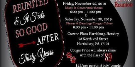 Harrisburg High Class of 1989 30 YR Reunion tickets
