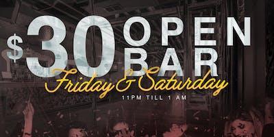 $30 Open Bar at Dirty Bar
