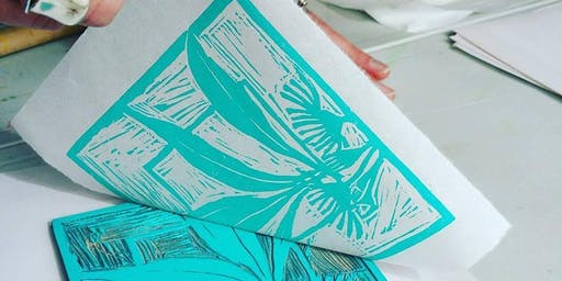 Linocut Printmaking : Sun 28th July : 10am-2pm: Guildford