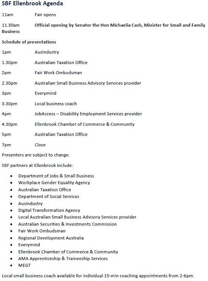 Australian Government  Small Business Fair Ellenbrook image