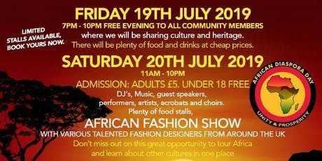 African Diaspora Festival July 20th 2019 tickets