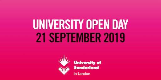University of Sunderland in London Open Day