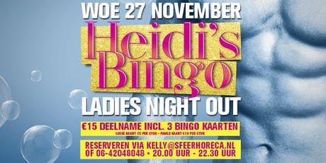 Heidi's Bingo - woensdag 27 november tickets
