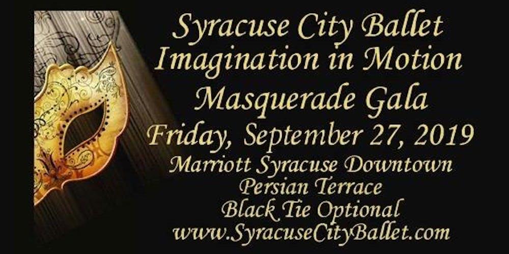 b8e91fc37e Syracuse City Ballet Imagination in Motion Masquerade Gala Tickets ...