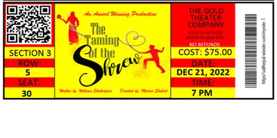 The Taming Of The Shrew Ticket