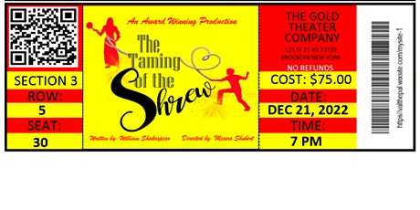The Taming Of The Shrew Ticket tickets