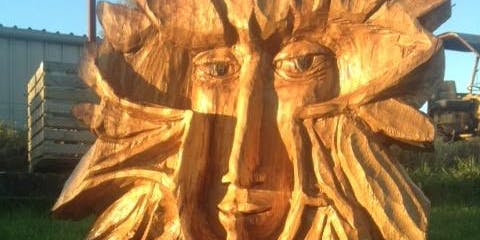 Carve a Green Man Wall Hanging