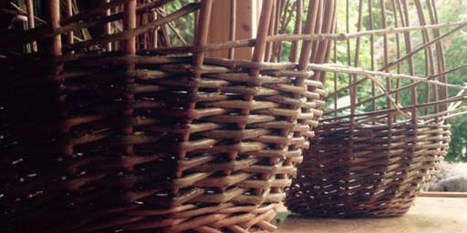Willow Weaving - Round Basket