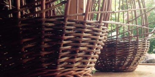 Willow Weaving - Round Basket