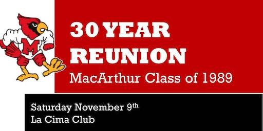 MacArthur 1989 Class Reunion