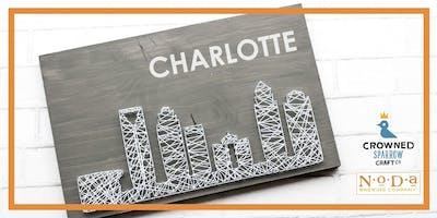 Crowned Sparrow Co. - craftXcraft | Charlotte Skyline N&S Art