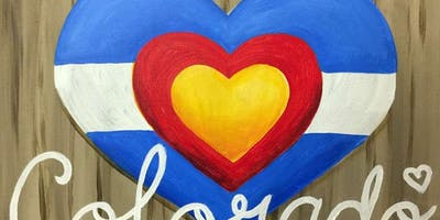 Colorado Is Where The Heart Is Painting at Growler's USA!