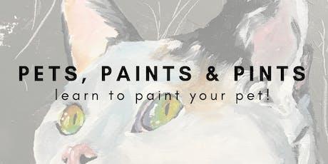 Pets, Paints & Pints tickets