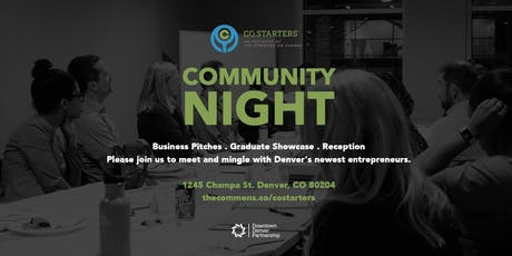 CO.Starters Community Night at The Commons tickets