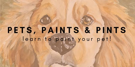 Pets, Paints & Pints tickets
