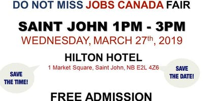 Saint John Job Fair - March 27th, 2019