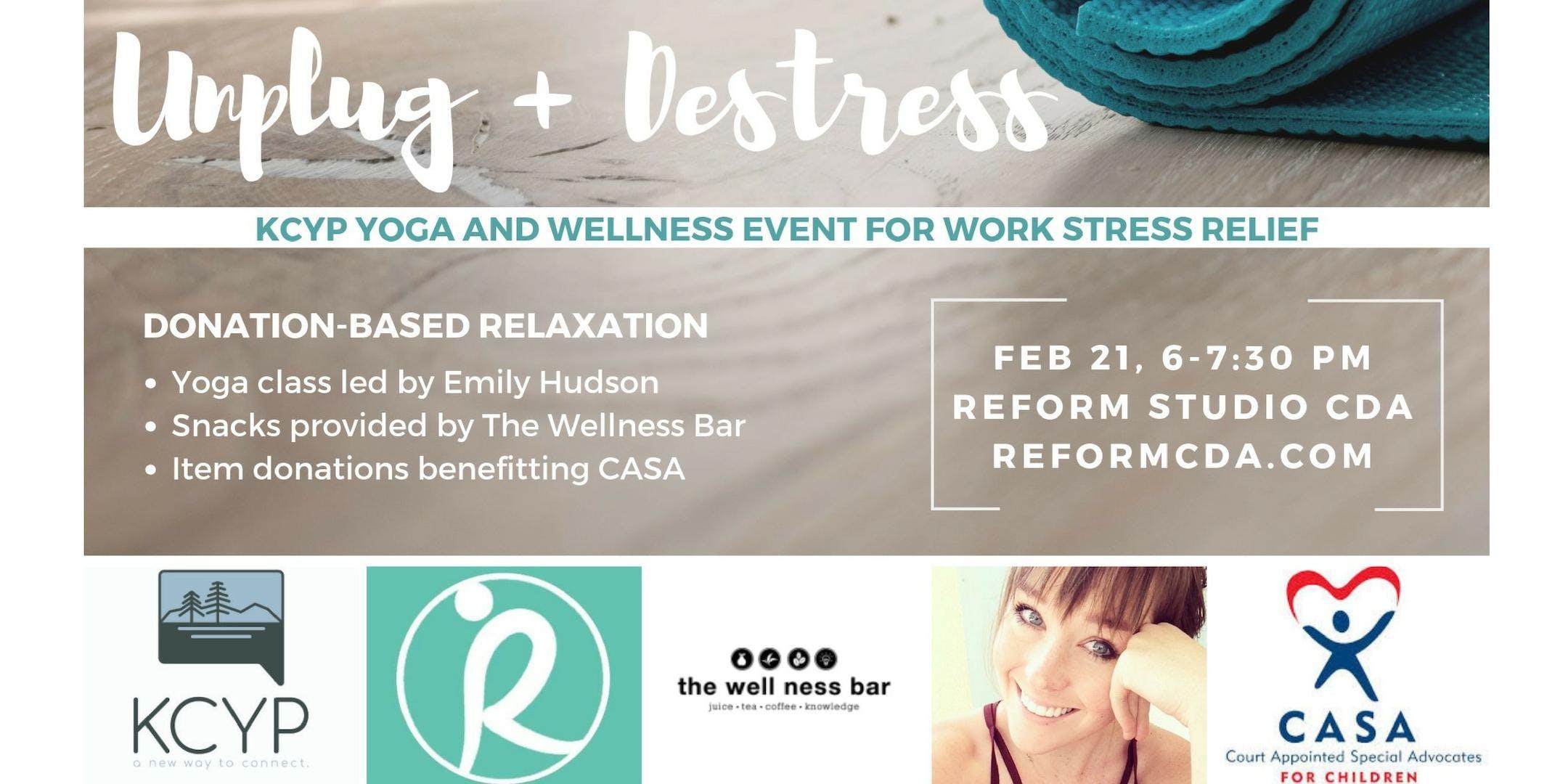 Unplug+Destress: Yoga & Wellness for Work Str