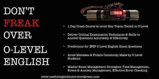 O-Level English Exam Crash Course
