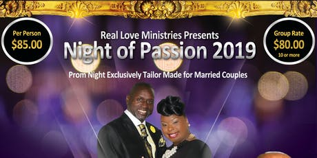 Night of Passion 2019- Prom Night for Married Couples  tickets