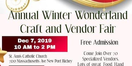 Annual Winter Wonderland Craft & Vendor Fair tickets