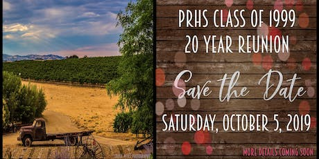 Paso Robles High School Class of 1999 Reunion tickets