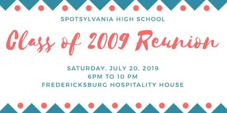 Spotsylvania High School Class of 2009 10 Year Reunion tickets