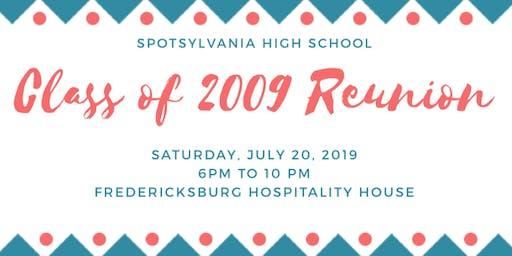 Spotsylvania High School Class of 2009 10 Year Reunion