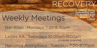Ongoing RECOVERY MEETINGS at CCU Orlando