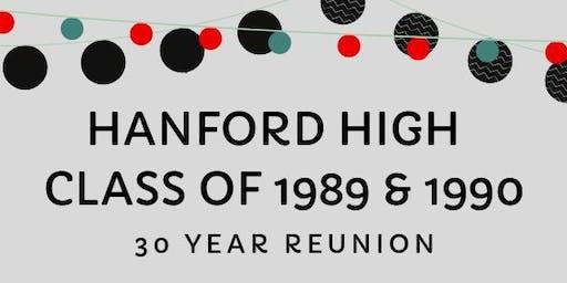 Hanford High Class of 1989 & 1990 - 30 Year Reunion