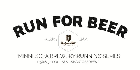 Beer Run - Badger Hill Brewing Co - Part of the 2019 MN Brewery Running Series tickets