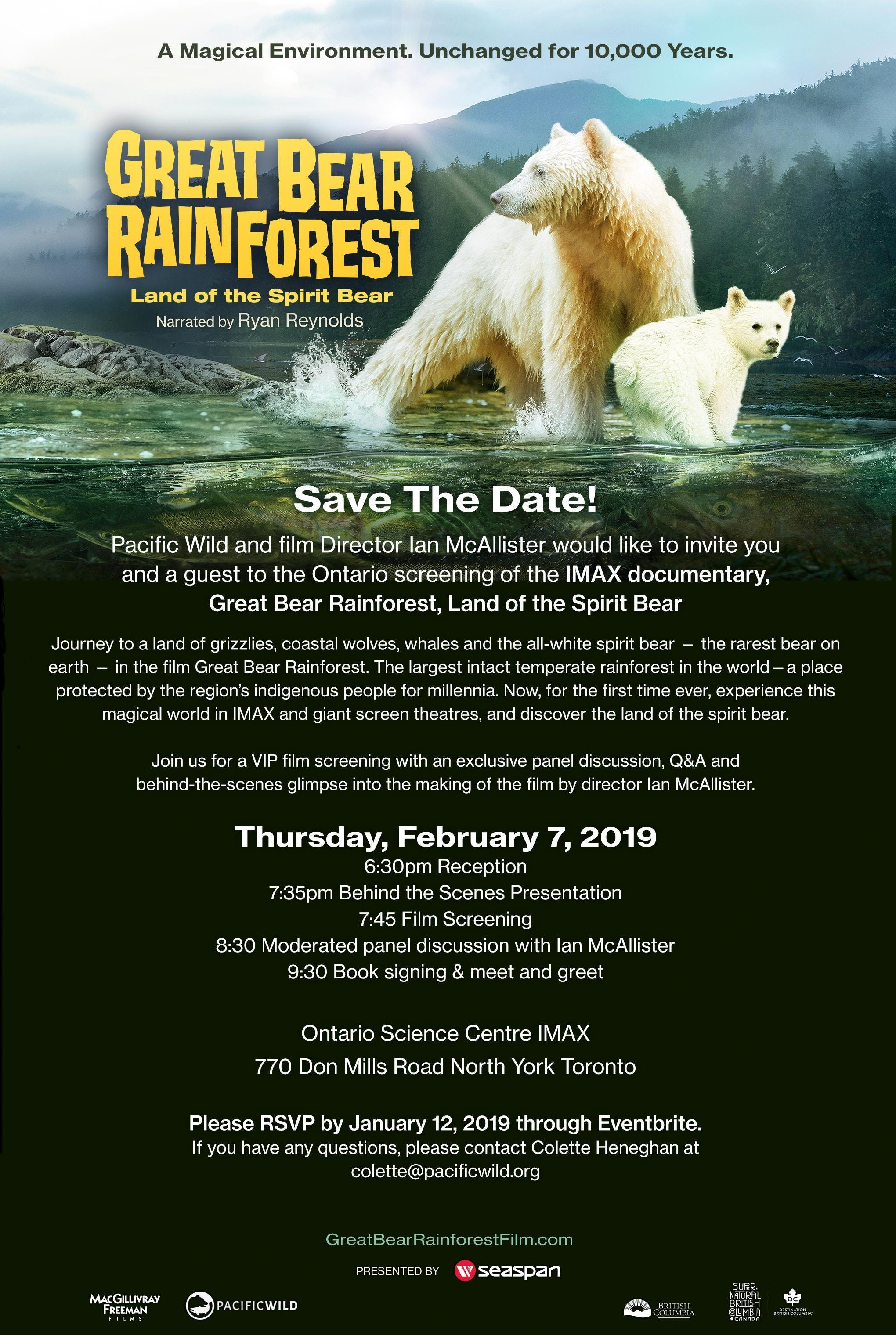 IMAX Great Bear Rainforest Screening and Dire
