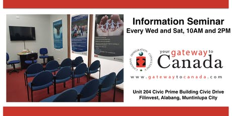Study Work and Live in Canada Information Seminar (Alabang) tickets
