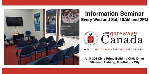 Study Work and Live in Canada Information Seminar (Alabang)