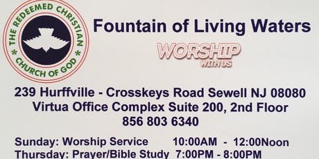 CHRISTIAN WORSHIP SERVICE - RCCG FOUNTAIN OF LIVING WATERS tickets
