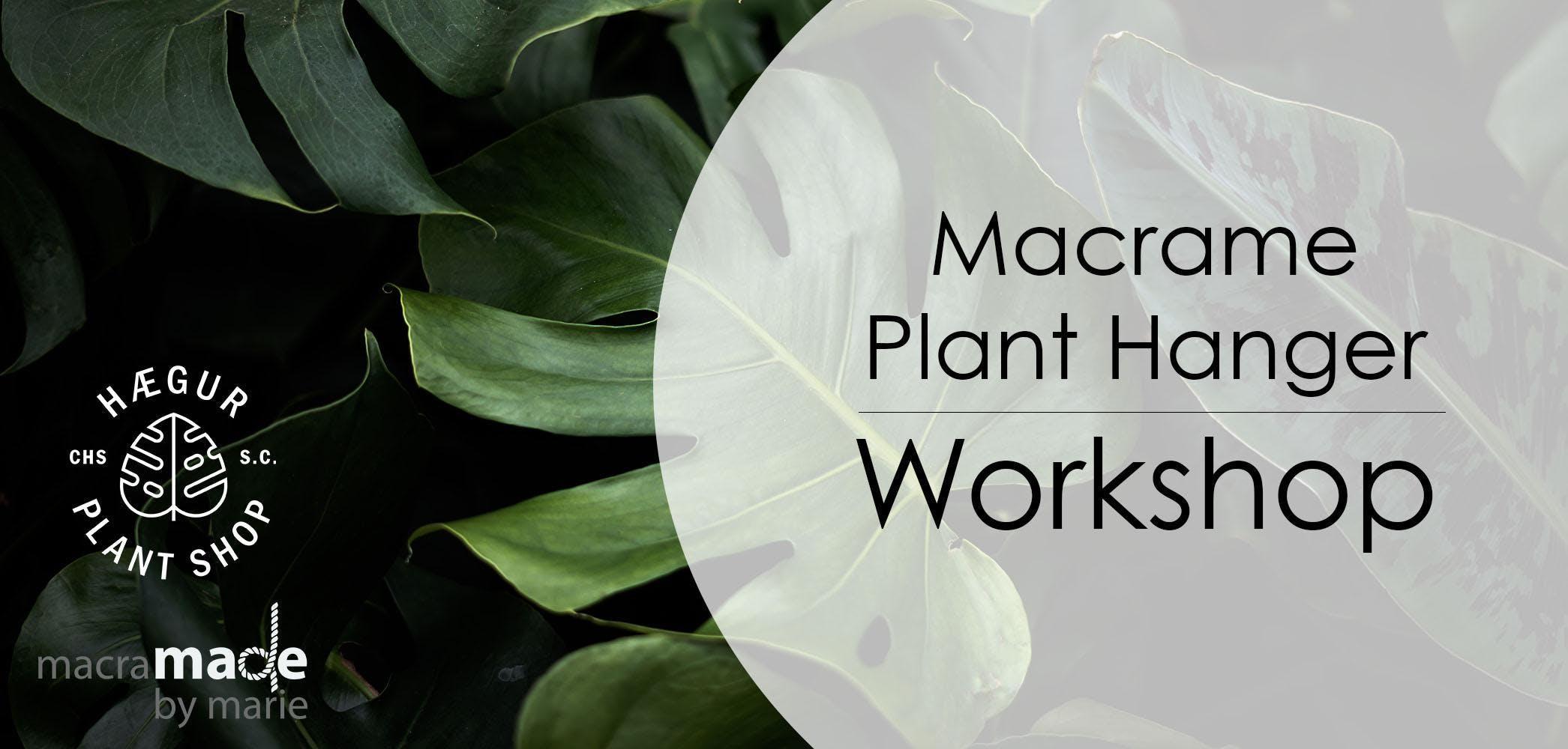 Macrame Plant Hanger Workshop @ Haegur Plant