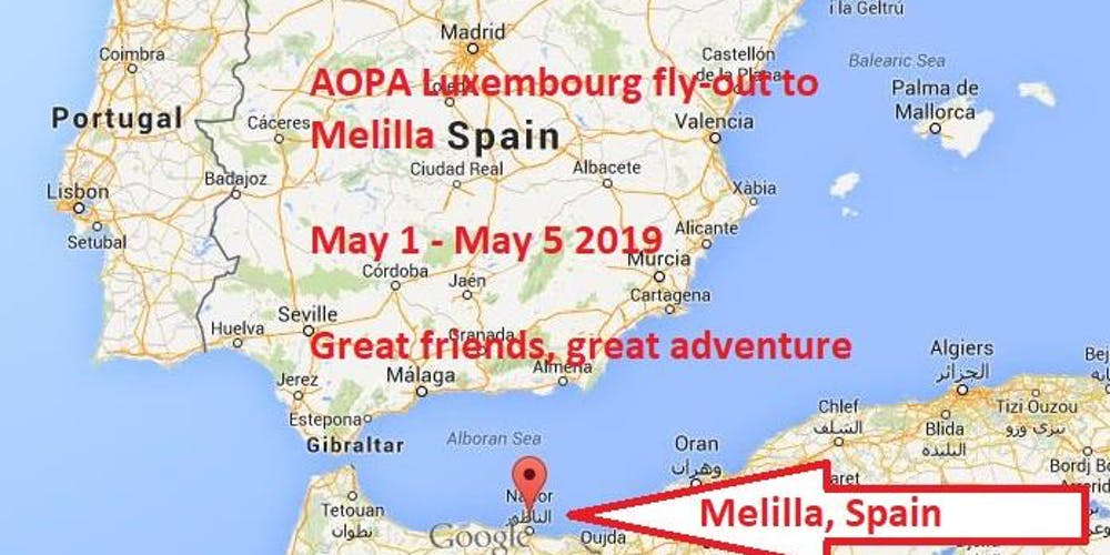 Melilla Spain Map.Adventurous Self Flying Adventure To Melilla Spain Tickets Wed