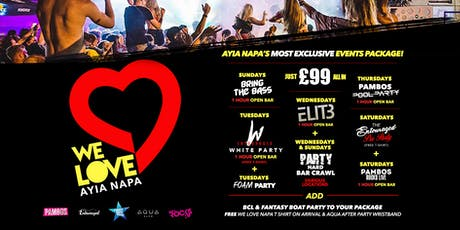 WE LOVE AYIA NAPA OFFICIAL 2019 PACKAGE tickets