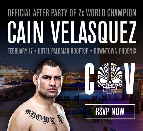The Official After Party of Sun Devil Legend Cain Velasquez