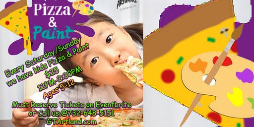 Kids Pizza And Paint Art Fun for Ages 5-12