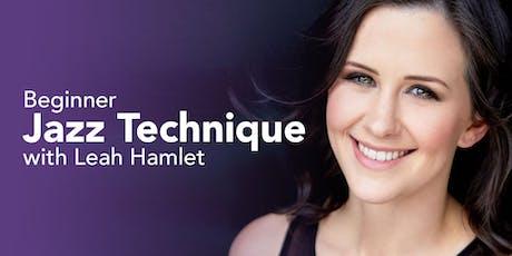 Beginner Jazz Technique with Leah Hamlet tickets