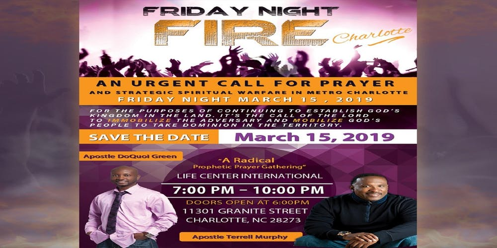 Friday Night Fire Charlotte Registration Fri Mar 15 2019 At 700